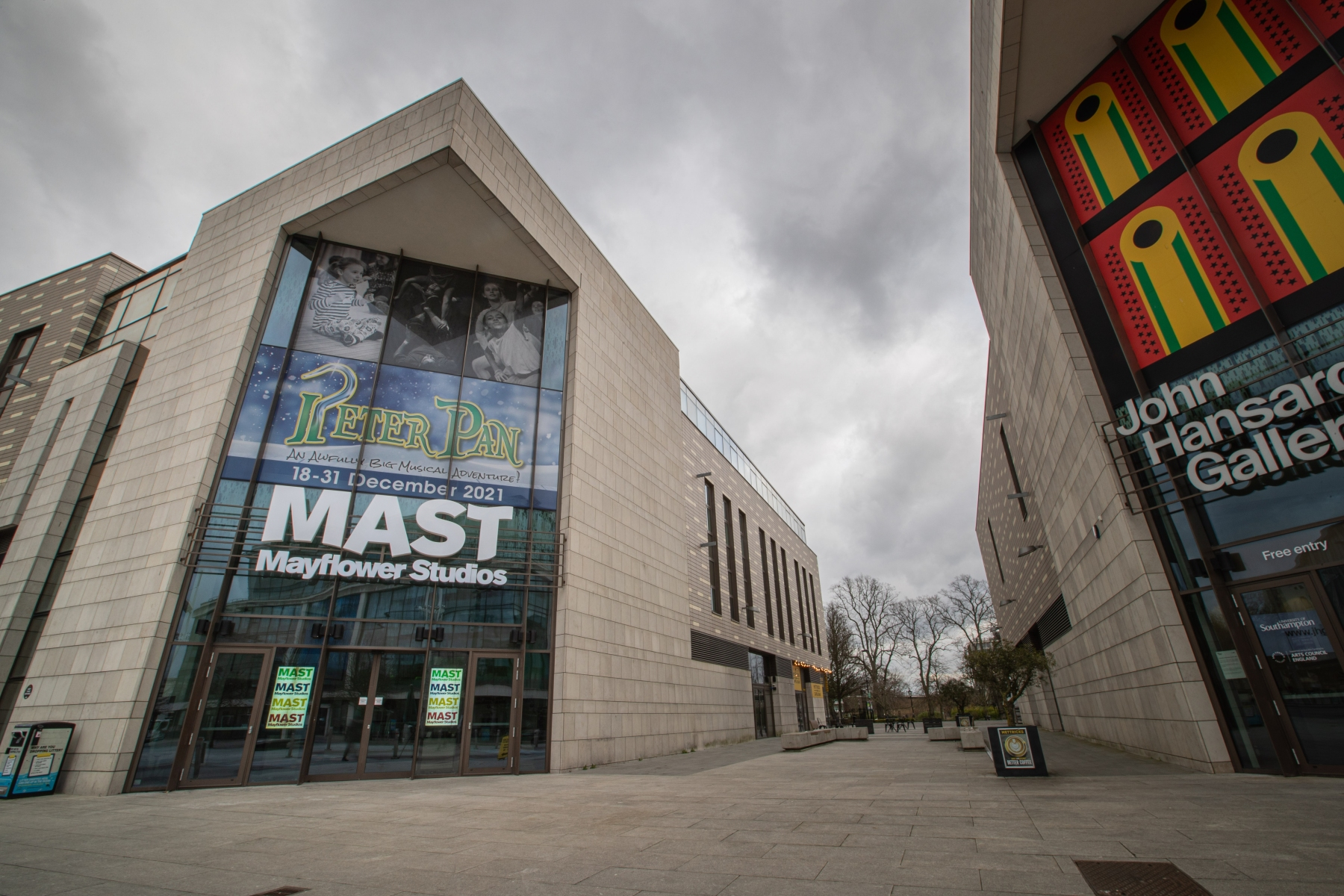 Street view of the front entrance of MAST Mayflower Studios